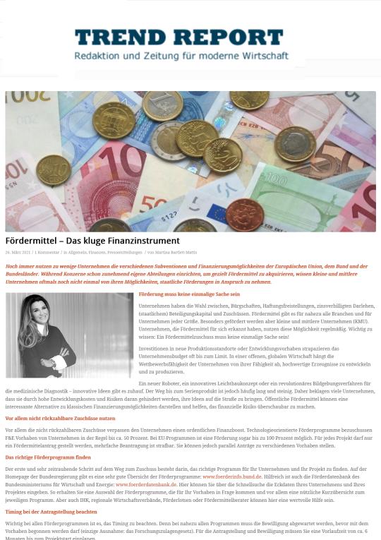 2021-03 TrendReport Fördermittel – Das kluge Finanzinstrument